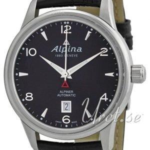 Alpina Alpiner Al-525b4e6 Kello Musta / Nahka