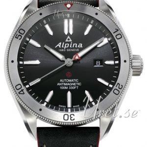 Alpina Alpiner Al-525bs5aq6 Kello Musta / Nahka