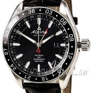 Alpina Alpiner Al-550g5aq6 Kello Musta / Nahka