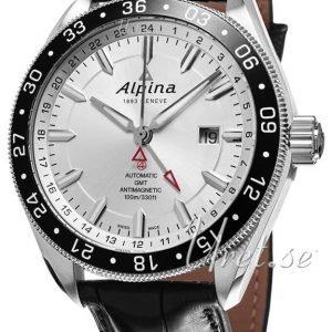 Alpina Alpiner Al-550s5aq6 Kello Hopea / Nahka