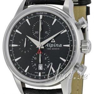 Alpina Alpiner Al-750b4e6 Kello Musta / Nahka