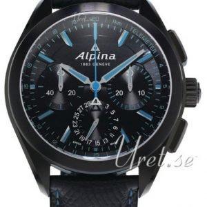 Alpina Alpiner Al-760bn5fbaq6 Kello Musta / Nahka