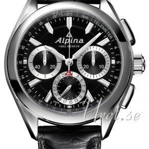 Alpina Alpiner Al-760bs5aq6 Kello Musta / Nahka