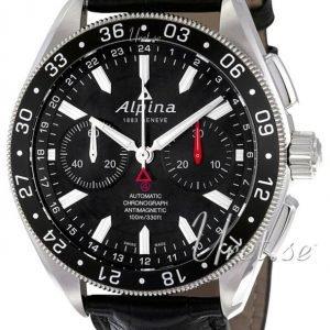 Alpina Alpiner Al-860b5aq6 Kello Musta / Nahka