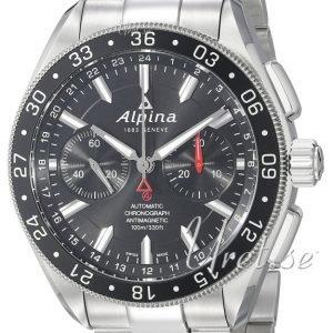 Alpina Alpiner Al-860b5aq6b Kello Musta / Teräs