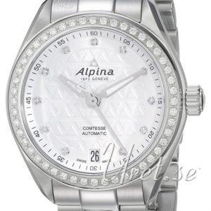 Alpina Comtesse Al-525std2cd6b Kello Valkoinen / Teräs