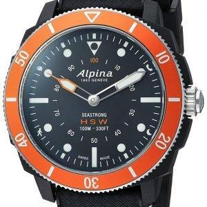Alpina Horological Smartwatch Al-282lbo4v6 Kello Musta / Kumi
