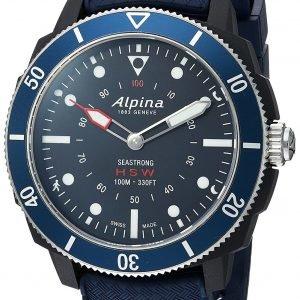 Alpina Horological Smartwatch Al-282lnn4v6 Kello Sininen / Kumi