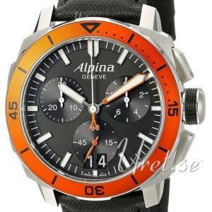 Alpina Seastrong Al-372lbo4v6 Kello Musta / Nahka
