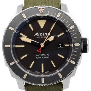Alpina Seastrong Al-525lgg4v6 Kello Musta / Kumi