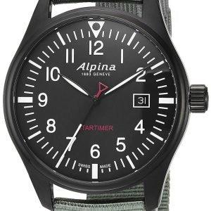Alpina Startimer Al-240b4fbs6 Kello Musta / Tekstiili