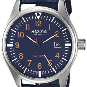 Alpina Startimer Al-240n4s6 Kello Sininen / Tekstiili