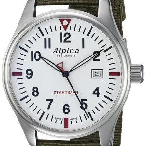 Alpina Startimer Al-240s4s6 Kello Valkoinen / Tekstiili