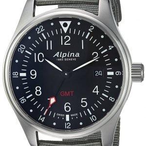 Alpina Startimer Al-247b4s6 Kello Musta / Tekstiili