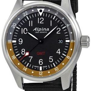 Alpina Startimer Al-247bbg4s6 Kello Musta / Tekstiili