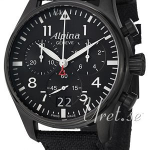 Alpina Startimer Al-372b4fbs6 Kello Musta / Nahka