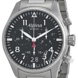 Alpina Startimer Al-372b4s6b Kello Musta / Teräs
