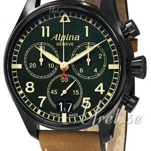 Alpina Startimer Al-372gr4fbs6 Kello Vihreä / Nahka
