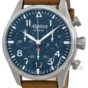 Alpina Startimer Al-372n4s6 Kello Sininen / Nahka