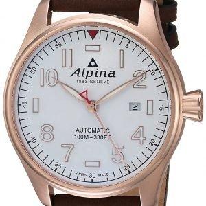 Alpina Startimer Al-525s4s4 Kello Valkoinen / Nahka