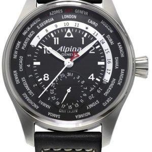 Alpina Startimer Al-718b4s6 Kello Musta / Nahka