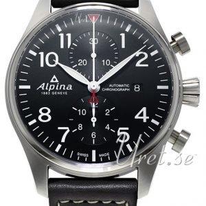 Alpina Startimer Al-725b4s6 Kello Musta / Nahka