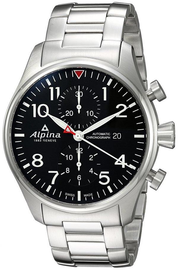 Alpina Startimer Al-725b4s6b Kello Musta / Teräs