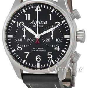 Alpina Startimer Al-860b4s6 Kello Musta / Nahka