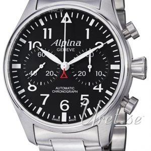 Alpina Startimer Al-860b4s6b Kello Musta / Teräs