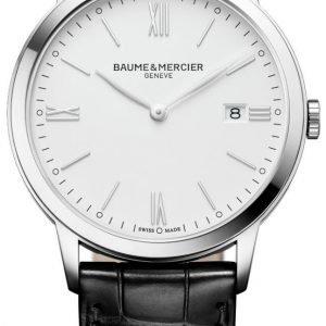 Baume & Mercier Classima M0a10323 Kello Valkoinen / Nahka