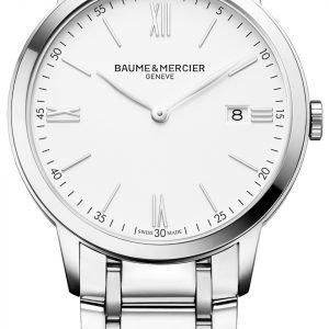 Baume & Mercier Classima M0a10354 Kello Valkoinen / Teräs
