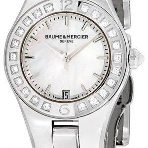 Baume & Mercier Linea M0a10078 Kello Valkoinen / Teräs