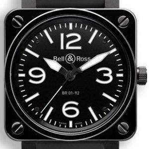 Bell & Ross Br 01-92 Br0192-Bl-Cer-Srb Kello Musta / Kumi