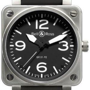 Bell & Ross Br 01-92 Br0192-Bl-St Kello Musta / Kumi