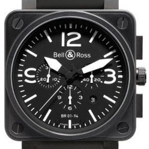 Bell & Ross Br 01-94 Br0194-Bl-Ca Kello Musta / Kumi
