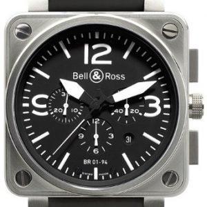 Bell & Ross Br 01-94 Br0194-Bl-St Kello Musta / Kumi