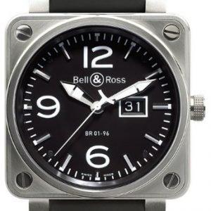 Bell & Ross Br 01-96 Br0196-Bl-St Kello Musta / Kumi