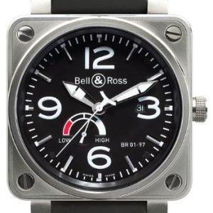 Bell & Ross Br 01-97 Br0197-Bl-St Kello Musta / Kumi