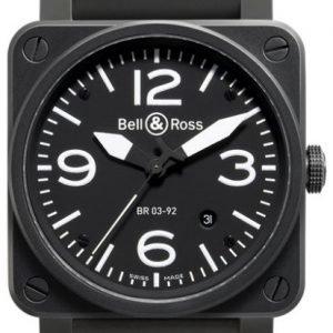 Bell & Ross Br 03-92 Br0392-Bl-Ca Kello Musta / Kumi