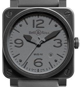 Bell & Ross Br 03-92 Br0392-Commando Kello Harmaa / Kumi