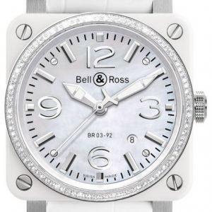 Bell & Ross Br 03-92 Br0392-Wh-C-D-Sca Kello Nahka