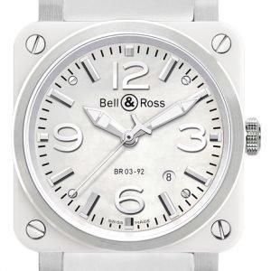 Bell & Ross Br 03-92 Br0392-Wh-C-Srb Kello Valkoinen / Kumi