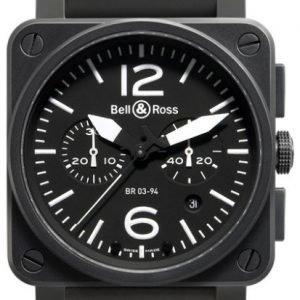 Bell & Ross Br 03-94 Br0394-Bl-Ca Kello Musta / Kumi