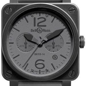 Bell & Ross Br 03-94 Br0394-Commando Kello Harmaa / Kumi