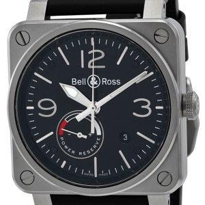Bell & Ross Br 03-97 Br0397-Bl-Si-Sca Kello Musta / Nahka