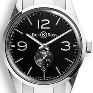 Bell & Ross Br 123 Brg123-Bl-St-Sst Kello Musta / Teräs