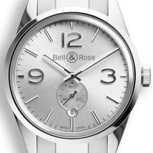 Bell & Ross Br 123 Brg123-Wh-St-Sst Kello Hopea / Teräs