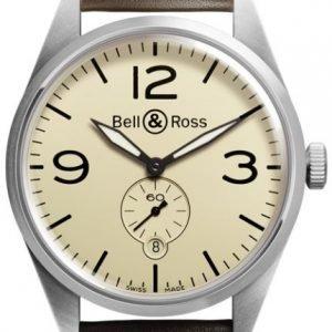 Bell & Ross Br 123 Brv123-Bei-St-Sca Kello Ruskea / Nahka