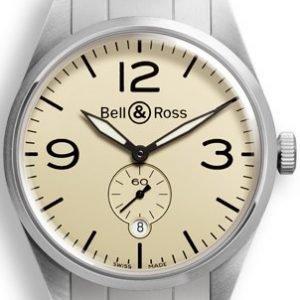 Bell & Ross Br 123 Brv123-Bei-St-Sst Kello Ruskea / Teräs