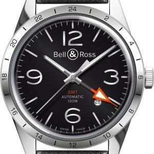 Bell & Ross Br 123 Brv123-Bl-Gmt-Srb Kello Musta / Kumi
